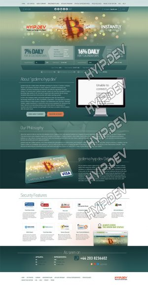 goldcoders hyip template no. 023 home