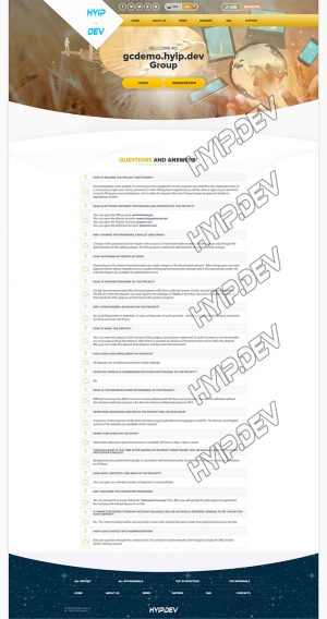 goldcoders hyip template no. 026 pages screenshot