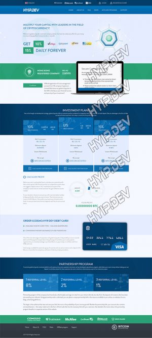 goldcoders hyip template no. 027 home page screenshot