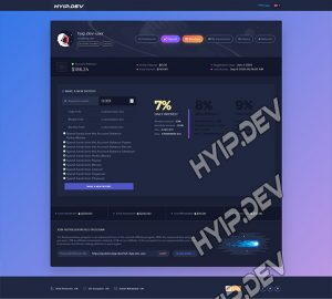 goldcoders hyip template no. 029, account page screenshot