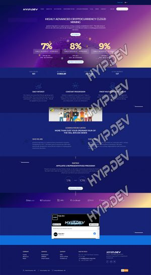goldcoders hyip template no. 029, home page screenshot
