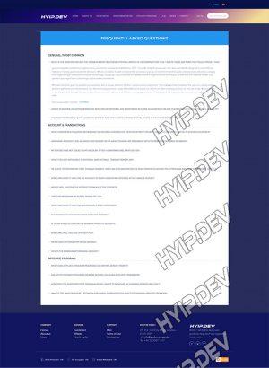 goldcoders hyip template no. 029, faq page screenshot