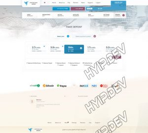 goldcoders hyip template no. 032, deposit page screenshot