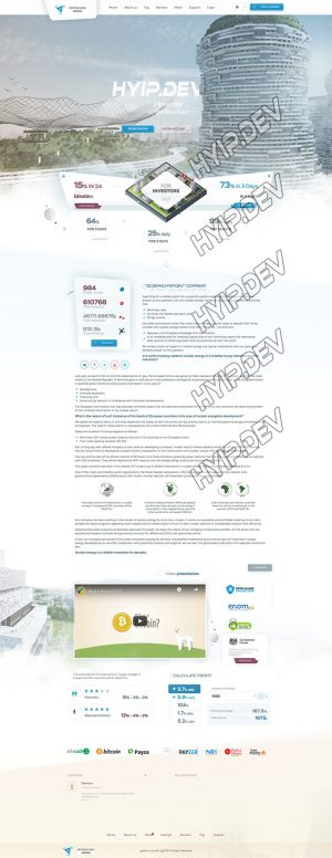 goldcoders hyip template no. 032, home page screenshot