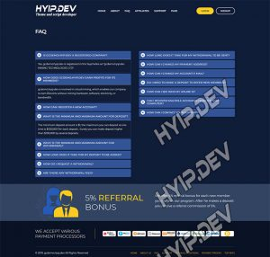 goldcoders hyip template no. 034, pages screenshot