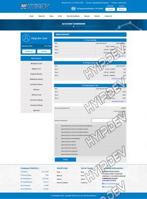 goldcoders hyip template no. 002, deposit page screenshot