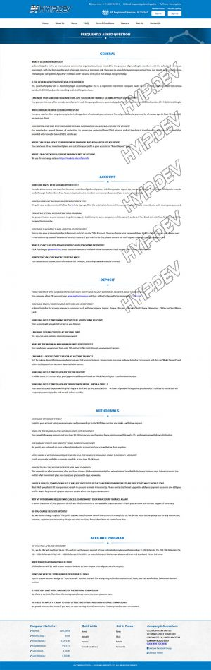 goldcoders hyip template no. 002, default pages screenshot