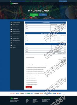 goldcoders hyip template no. 041, deposit page screenshot