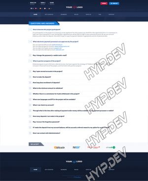 goldcoders hyip template no. 042, default page screenshot