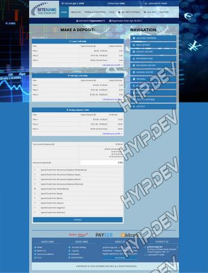 goldcoders hyip template no. 044, deposit page screenshot