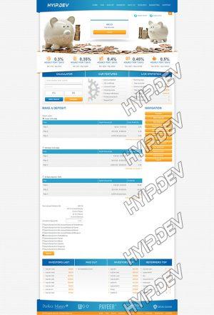 goldcoders hyip template no. 052, deposit page screenshot