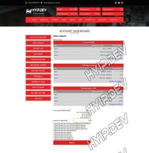 goldcoders hyip template no. 053, deposit page screenshot