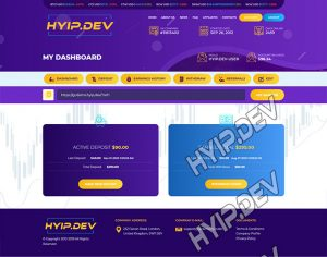 goldcoders hyip template no. 054, account page screenshot