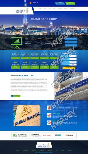 goldcoders hyip template no. 058, home page screenshot