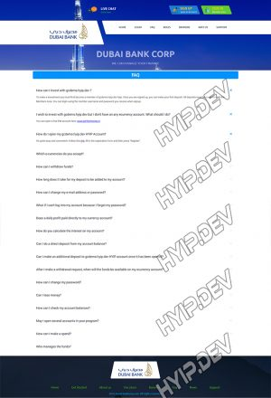 goldcoders hyip template no. 058, default page screenshot
