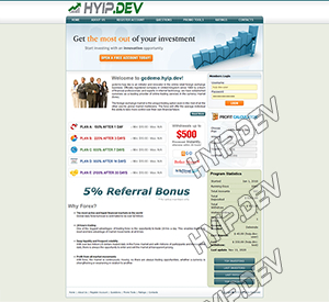 goldcoders hyip template no. 061