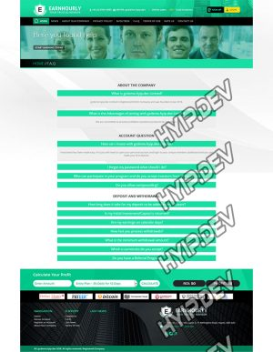 goldcoders hyip template no. 062, default page screenshot