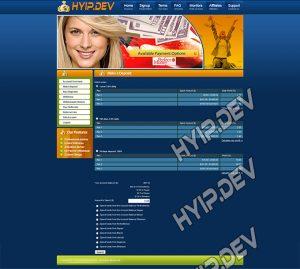 goldcoders hyip template no. 063, deposit page screenshot