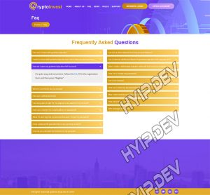goldcoders hyip template no. 064, default page screenshot