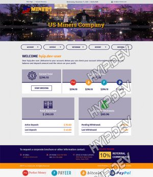 goldcoders hyip template no. 067, account page screenshot
