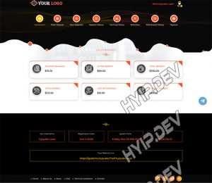 goldcoders hyip template no. 070, account page screenshot