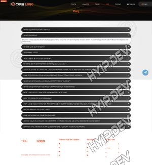 goldcoders hyip template no. 070, default page screenshot