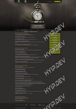 goldcoders hyip template no. 071, default page screenshot