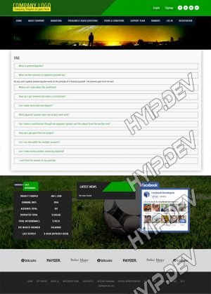 goldcoders hyip template no. 072, default page screenshot