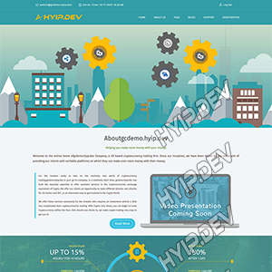 goldcoders hyip template no. 073