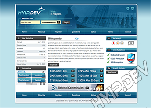 goldcoders hyip template no. 075