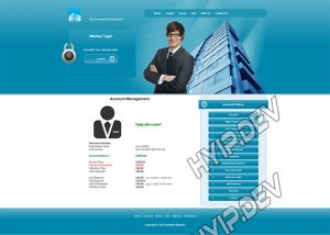 goldcoders hyip template no. 079, account page screenshot