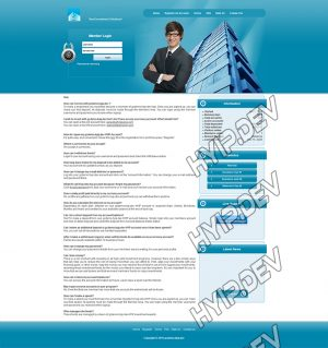 goldcoders hyip template no. 079, default page screenshot