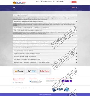 goldcoders hyip template no. 080, default page screenshot