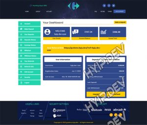 goldcoders hyip template no. 087, account page screenshot