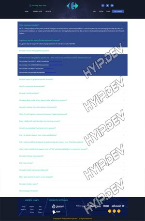 goldcoders hyip template no. 087, default page screenshot