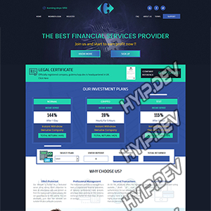 goldcoders hyip template no. 087