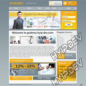 goldcoders hyip template no. 089