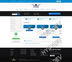 goldcoders hyip template no. 092, account page screenshot