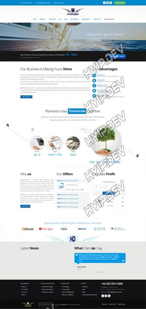goldcoders hyip template no. 092, home page screenshot