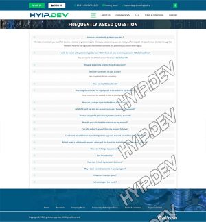 goldcoders hyip template no. 093, default page screenshot