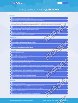 goldcoders hyip template no. 095, default page screenshot