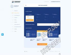 goldcoders hyip template no. 096, deposit page screenshot