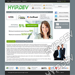 goldcoders hyip template no. 099