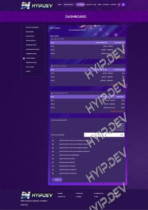 goldcoders hyip template no. 100, deposit page screenshot