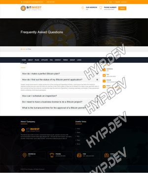 goldcoders hyip template no. 102, default page screenshot