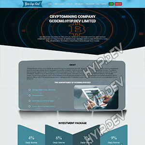 goldcoders hyip template no. 103