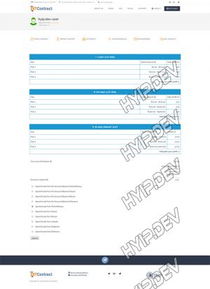 goldcoders hyip template no. 114, deposit page screenshot