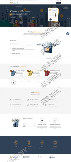 goldcoders hyip template no. 114, home page screenshot