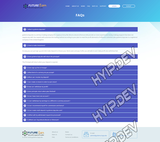 goldcoders hyip template no. 120, default page screenshot