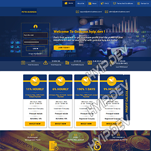 goldcoders hyip template no. 121